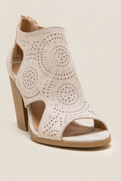 Not Rated Cabana Laser Cut Peep Toe Heel