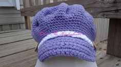 You have to see Purple Newsboy on Craftsy! - Looking for crocheting project inspiration? Check out Purple Newsboy by member Hook N Hang. - via @Craftsy