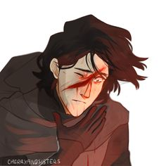 Kylo Ren by cherryandsisters I personally can't wait so see if he got a scar from that fight. I bet it'll look neat.