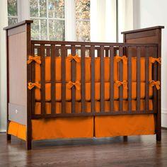 Solid Orange Crib Bedding and Nursery Decor Collection #carouseldesigns