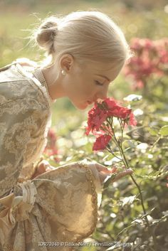 Trevillion Images - The Ultimate Creative Stock Photography - Senior Photos Girls, Senior Pictures, Smelling Flowers, Cottage Garden Design, Historical Women, Portrait Poses, How Beautiful, Line Art, Photography