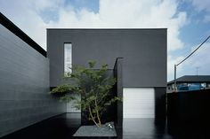 house design with complete black exterior