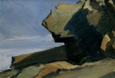 Edward Hopper (American, 1882-1967), Rocky Projection at Sea (Boar's Head), 1916-19. Oil on composition board, 9 x 12 7/8 in. Whitney Museum of American Art, New York.