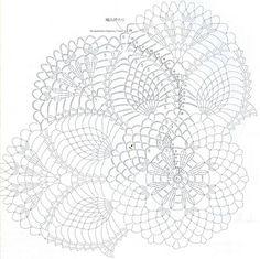Crochet Mat, Crochet Doily Diagram, Crochet Doily Patterns, Thread Crochet, Crochet Doilies, Crochet Tablecloth Pattern, Pineapple Crochet, Black Rings, Arts And Crafts