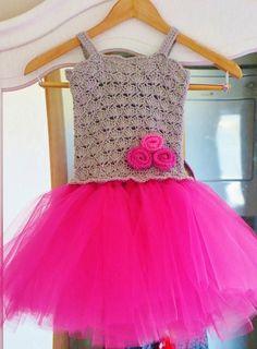 Tutu Dress Crochet Pattern, Crochet Baby Dress Pattern, Pdf Pattern