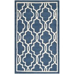 Shop for Safavieh Handmade Moroccan Cambridge Navy Wool Rug (2' x 3'). Free Shipping on orders over $45 at Overstock.com - Your Online Home Decor Outlet Store! Get 5% in rewards with Club O! - 15334650