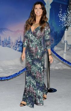 "Ali Landry looking gorgeous at the ""Frozen"" Premiere in her #RachelPally Long Wrap Dress in Anemone"