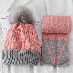 82378ba822f Winter Children Hat Scarf set. Children Winter Knit ...