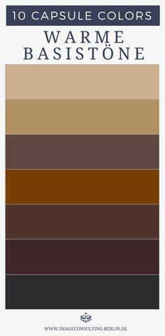 """Das sind neutrale Grundfarben - im Prinzip dein """"Schwarz"""": Optimal für Schuhe, Blazer, Stoffhosen, Anzüge, Kostüme, Etuikleider, Mäntel, Jacken, Taschen, Gürtel"""