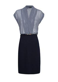 MANGO - CLOTHING - Dresses - Retro inspired print combi dress