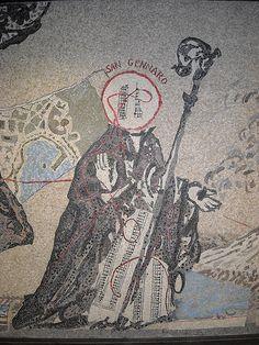 Mosaic detail - Site specific mosaic artwork by William Kentridge at Toledo Underground station, Naples