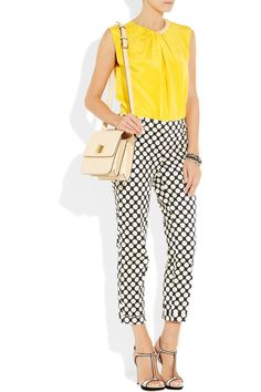 3.1 Philip Lim top, Giles & Brother bracelet, J.Crew capri pants, Chloe bag, Miu Miu shoes - Mama needs some cute date night clothes...can I pull this off?
