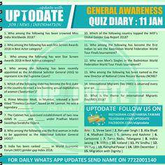 General Awareness Quiz : 11 January Mobile Application, January