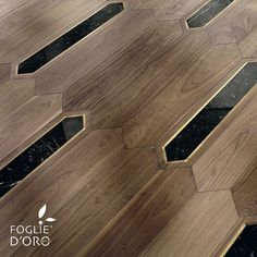 Floors - Architectural and decorative elements Wood Floor Pattern, Wood Floor Design, Floor Patterns, Tile Design, Design Design, Luxury Flooring, Unique Flooring, Timber Flooring, Parquet Flooring