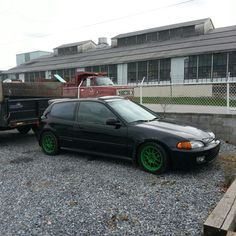 Konig daylite on eg civic hatch green wheels.    http://www.konigwheels.com/Konig-Home/Konig-Passenger-Wheels  Instagram photo by @mikedohc (mike dougherty) | Statigram