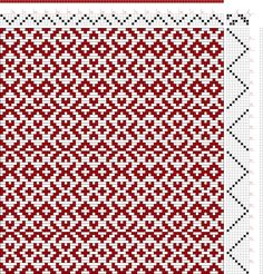 draft image: Threading Draft from Divisional Profile, Tieup: Atlas D'Armures Textiles, B. Fressinet, Draft #38098, 4S, 8T