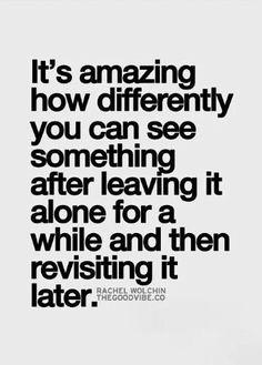Leaving it alone