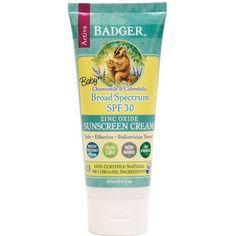 Badger SPF 30 Baby Sunscreen Cream
