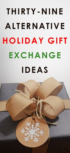 Tired of drawing names for the family gift exchange? Try one of these 39 ingenious alternative gift exchange ideas - All Gifts Considered Creative Christmas Gifts, Family Christmas Gifts, Christmas Gift Guide, Christmas Fun, Christmas Traditions, Holiday Fun, Holiday Crafts, Christmas Gift Alternatives, Christmas Gift Drawing