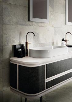 Contemporary Art Deco Bathroom Detail (Alt with brass details) Art Deco Bathroom, Bathroom Rules, Bathroom Interior, Modern Bathroom, Bathroom Faucets, Bathroom Pink, Bathroom Ideas, Stone Bathroom, Classic Bathroom
