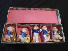 Vintage Antique Porcelain 5 Piece Monkey Band in Original Box XLNT Cond | eBay
