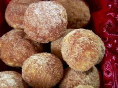 Get French Breakfast Puffs Recipe from Food Network  Add cocoa to the coating! She did it on her show!!!