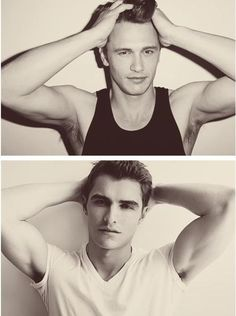The Franco Brothers, them and the Hemsworth brothers are so attractive