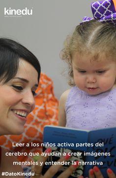 Leer a los niños activa partes del cerebro que ayudan a crear imágenes mentales y entender la narrativa. ¡Aprende más sobre los beneficios de leerle a tu bebé!