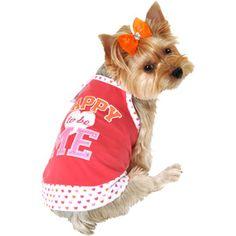 Lulu Pink Happy To Be Me Dog Tank