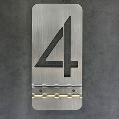 Stainless Steel Address Numbers from Object Creative.