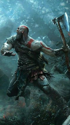 Kratos God of War - Video Games - Ideas of Video Games - Kratos God of War Kratos God Of War, Good Of War, Dark Fantasy, Fantasy Art, Fantasy Beasts, Viking Power, Tableau Star Wars, Vikings, Gaming Wallpapers