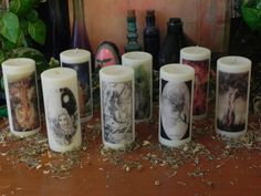 I totally want these.   8 Sabbat Set  Pagan Spell Candle  holidays by SandiEnchantedGarden, $90.00