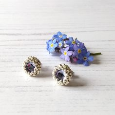 Types Of Lighting, Beautiful Gifts, Craft House, Home Crafts, Seed Beads, Lavender, Artisan, Stud Earrings, British