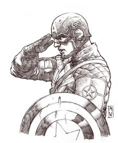 Captain America Sketch by AdmiraWijaya.deviantart.com on @deviantART