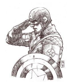 Captain America Sketch by AdmiraWijaya.deviantart.com on @deviantART