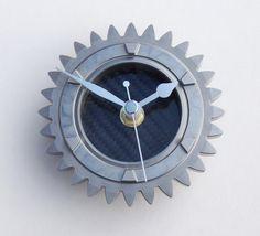 Formula 1 gear wall or desk clock guys carbon fiber by LedonGifts