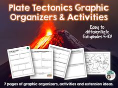 Plate Tectonics Graphic Organizers - 7 pages of organizers and activities! ($)