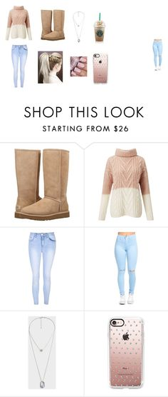 """""""Fall outfit"""" by jinxallison on Polyvore featuring UGG, Miss Selfridge, Glamorous, MANGO and Casetify"""