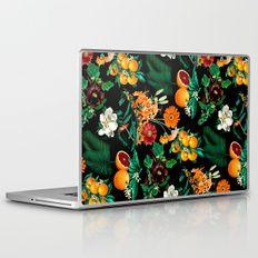 Fruit and Floral Pattern Laptop & iPad Skin by Burcu Korkmazyurek - MacBook / Pro / Air Annual Plants, Laptop Decal, Zinnias, Best Artist, Laptop Skin, Planting Flowers, Custom Design, Bubbles, Pc Laptops