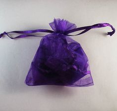 50pcs Dark Purple Drawstring Organza Gift Bag Pouch 7x9cm (2.7x3.5inch) Solid Color for Wedding Xmas New Year Birthday Party by AnneJewelryAcc, $4.85