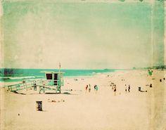 beach photograph  nostalgia Hermosa Beach photo  by MyanSoffia