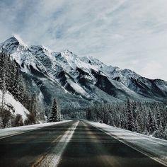 upknorth:  Meanwhile in Canada.#getoutdoors #upknorthBC mountain roads. Photo by treasuretrev.