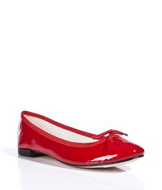 Flame Patent Leather Ballerinas