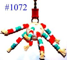 1072 Bead ball bird toy is a must for your small bead lover.Comes with a golf ball sized Wiffle ball with lots of colorful plastic beads threaded and knotted on 100% cotton rope.Easy to clean and you ...