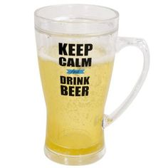 Boston Warehouse > New Arrivals > 14OZ INSULATED BEER MUG KEEP CALM DRINK BEER