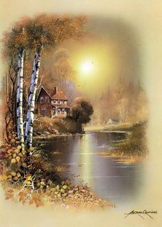 Dyskusja na liveinternet - Rosyjski serwis internetowy Diaries Watercolor Landscape, Landscape Art, Landscape Paintings, Pintura Colonial, Learn Art, China Painting, Pictures To Paint, Pretty Pictures, Beautiful Landscapes