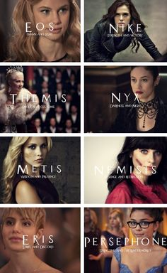Vampire Academy ladies + Greek Goddesses