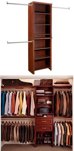 Closet Organizers 43503: Bedroom Closet Organizer Storage Rack Shelves  Clothes Narrow Wardrobe Closetmaid  U003e BUY IT NOW ONLY: $164.99 On EBay!
