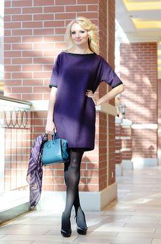 Платье фиолетовое UONA. Очень уютное и универсальное, легкое в уходе и очень стильное! 8900₽ #musthave #dress #платье #красивоеплатье #платьенавыход #купитьплатье #весна #платьедляофиса #платьемиди #платьебаллон #российскиедизайнеры #дизайнерскоеплатье #clothes