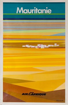 Mauritanie (Mauritania) Air Afrique poster was designed by Alain Carrier
